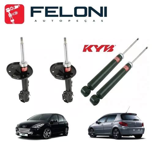 Kit 4 Amortecedor Original Kayaba C4 Hatch/pallas Peugeo 307