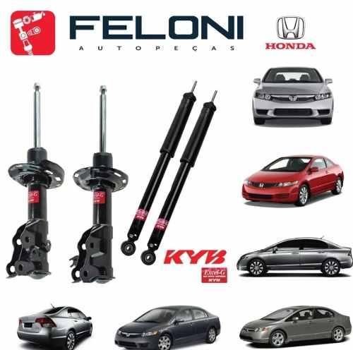 Kit 4 Amortecedores Original Kayaba P/ New Civic 2006-2011 - Originais Unidade Mlb1060666618