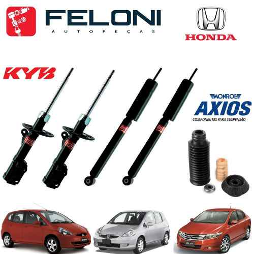 Amortecedores Kit Axios Honda Fit 2010 2011 2012 2013 2014 - Mlb953287839